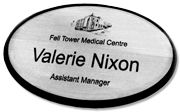 Oval Name Badge - by Name Badges International