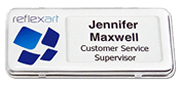 Reusable plastic Name Badge - for staff and corporate, ideal for conference