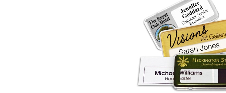 design reusable name badges online